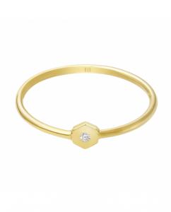 Złoty pierścionek z diamentem na tegoroczną studniówkę